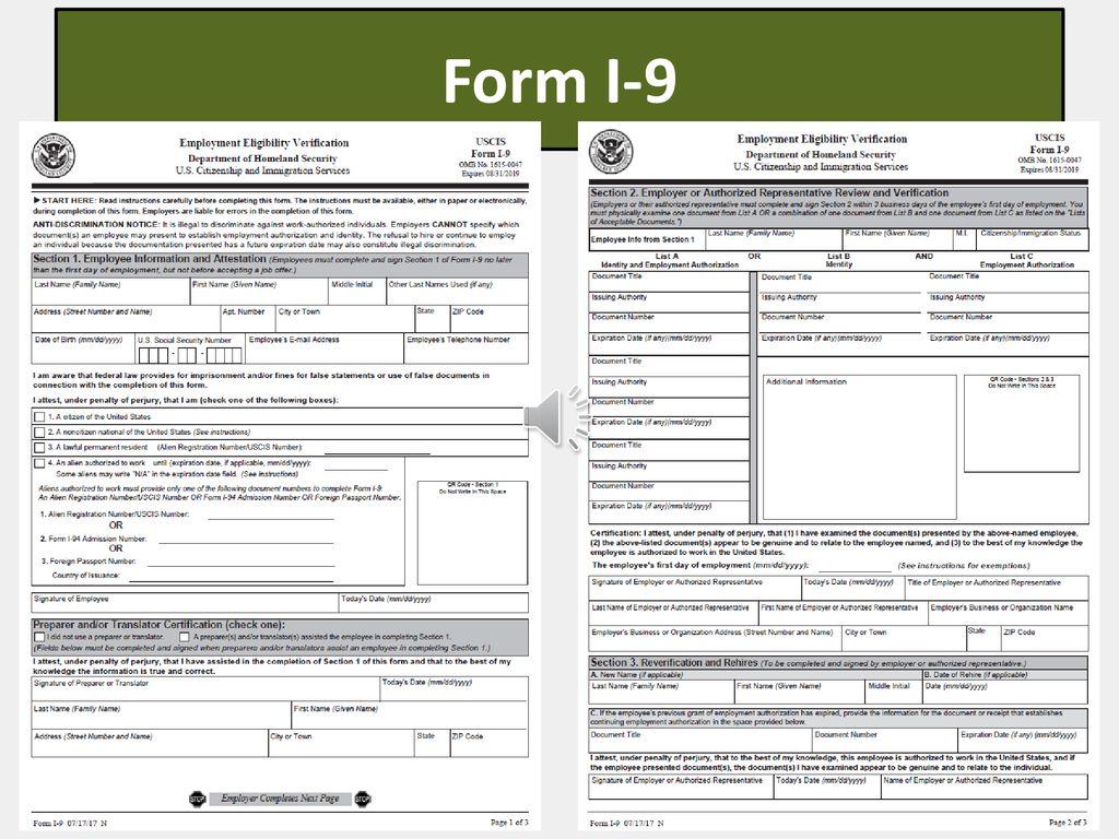 I 9 Form Page 7 And 8 I9 Form 2021 Printable