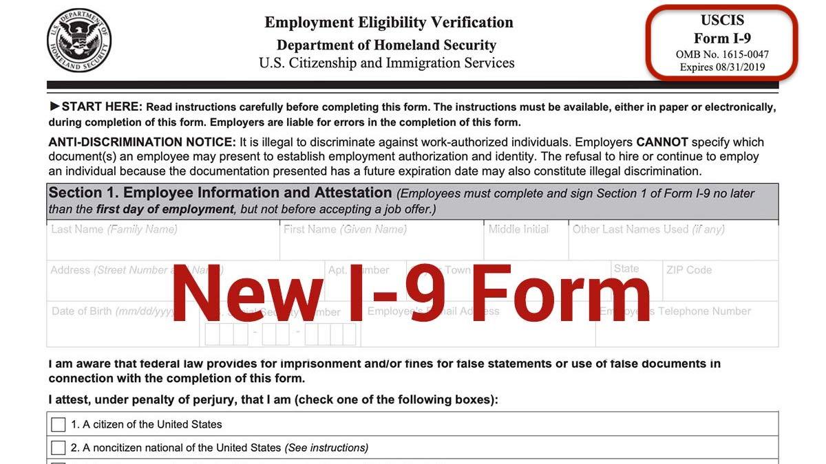 Current I 9 Form 2019 Spanish I9 Form Printable