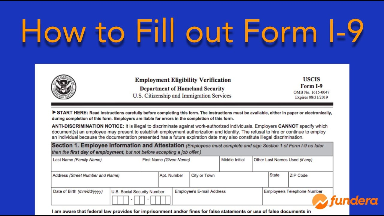How To Fill Out Form I 9 Easy Step By Step Instructions