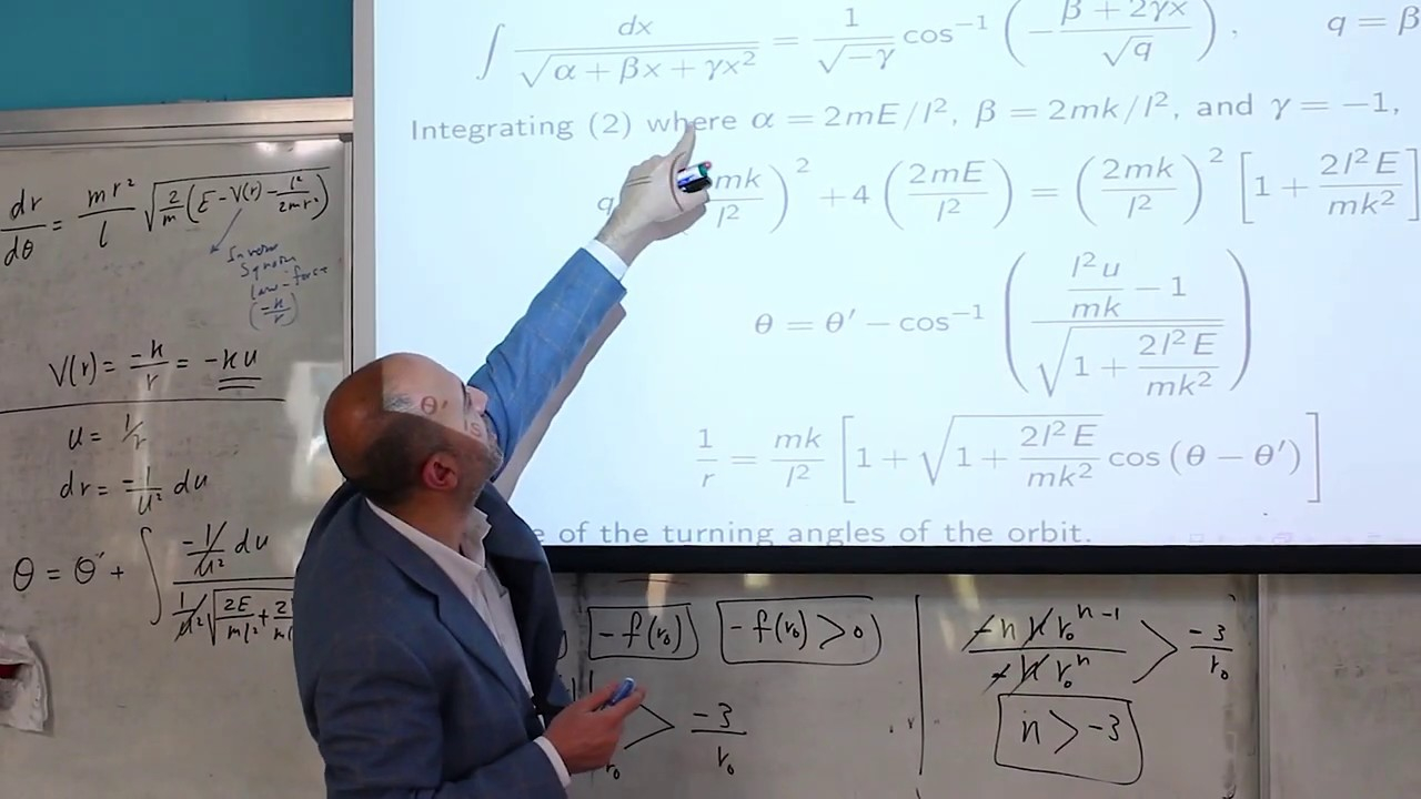 The Central Force Problem Continued Analytical